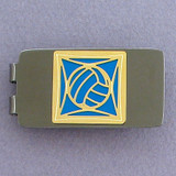 Volleyball Money Clips - Gunmetal