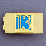 Thirteenth Birthday Money Clip - Gold