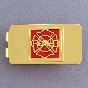 Fireman Money Clip - Gold