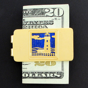 Lighthouse Money Clip - Gold