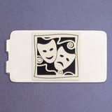 Performing Arts Money Clip - Silver
