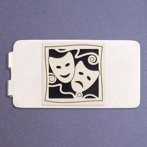 Performing Arts Money Clip - Silver