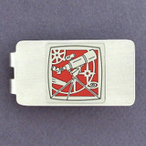 Telescope Money Clip - Silver
