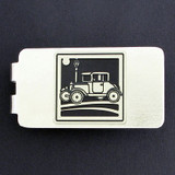 Antique Car Money Clip - Silver
