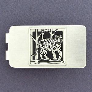 Tiger Money Clip - Silver