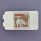 Rhino Money Clip - Silver