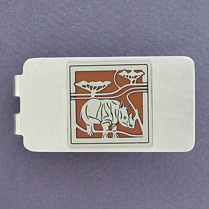 Rhino Money Clip - Silver