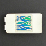 Ribbons Money Clip - Silver