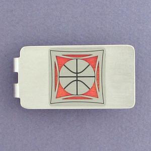 Basketball Money Clip - Silver