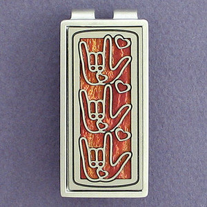 I Love You Sign Language Money Clips
