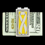 Yellow Ribbon Money Clip
