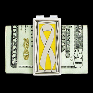 Yellow Ribbon Money Clip