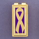 Purple Ribbons Money Clip
