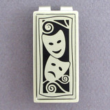 Silver & Black Theater Masks Money Clip