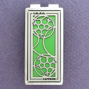 Caffeine Molecule Money Clips