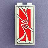 Red & Silver Art Nouveau Money Clip