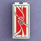 Red & Silver Art Nouveau Money Clip