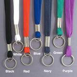 Woven Neck Lanyards with Key Ring for ID Badges