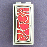 Interlocked Hearts Money Clips