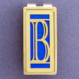 Monogram Initial B Money Clip