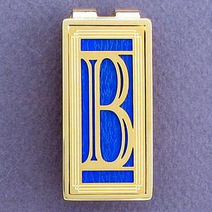 Monogram Initial B Money Clip