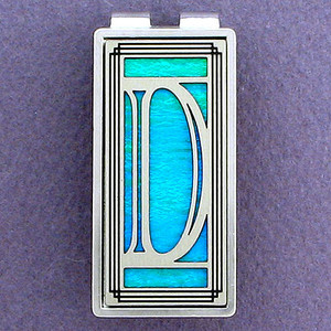 Monogram Letter D Money Clips