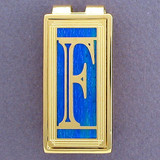 Monogram Letter F Money Clips