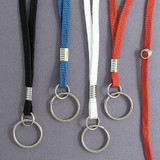 Narrow Woven Safety Breakaway Neck Lanyard with Key Ring