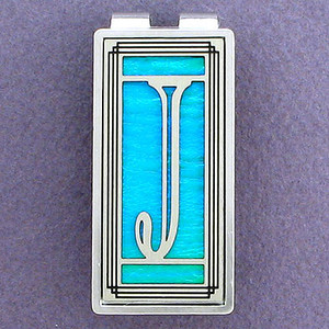 Monogrammed Letter J Money Clips