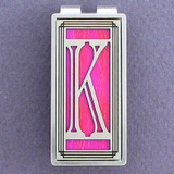 Monogram Letter K Money Clip