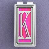 Monogram Letter K Money Clip