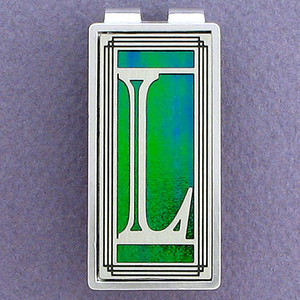 Monogram Letter L Money Clips