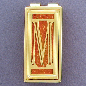 Monogram Initial M Money Clips