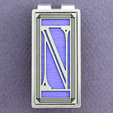 Monogram Letter N Money Clips
