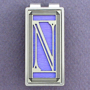 Monogram Letter N Money Clips