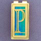 Monogrammed Capital P Money Clips