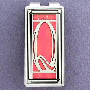 Monogram Initial Q Money Clips