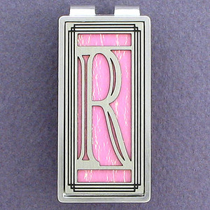 Monogrammed Initial R Money Clips