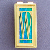 Monogram Letter W Money Clips