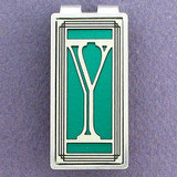 Monogrammed Letter Y Money Clips