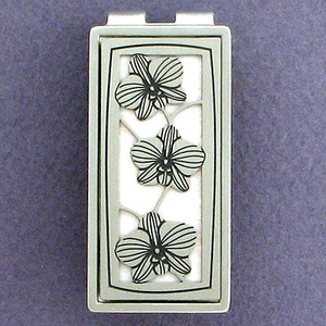 Orchid Money Clip