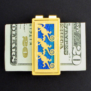 Gecko Lizards Money Clips