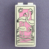 Flamingo Money Clip - Pink, Silver