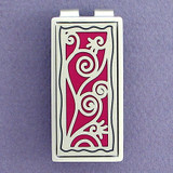 Silver & Berry Decorative Vine Swirl Money Clip