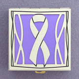 Purple Awareness Ribbon Pill Box