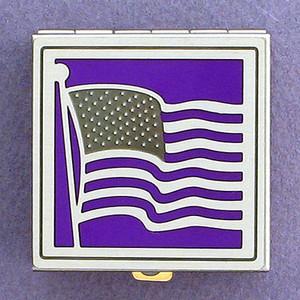 American Flag Pill Box