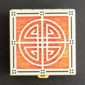 Ornamental Crest Pill Box