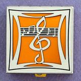 Music Note Pill Box - Small, Silver