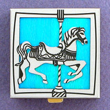 Personalized Carousel Horse Pill Box