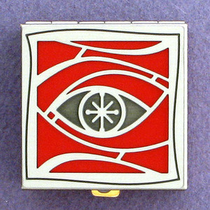 Eye Motif Pill Box